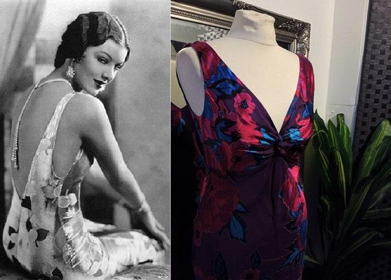 Silk Dress  Slip Dress  Bias Cut Dress  Devore Dre