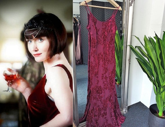 Velvet Dress  Bias Cut Dress  Silk Velvet Dress  1