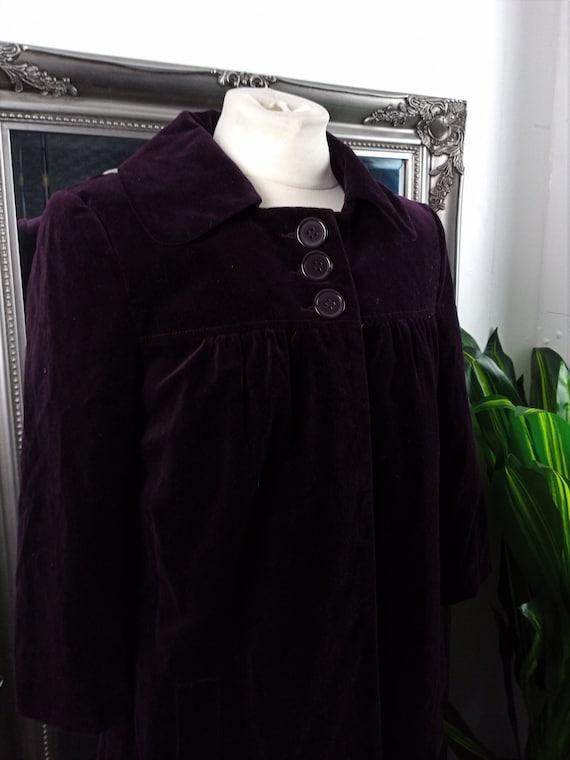 Velvet Coat  Velvet Jacket  Purple Coat  Purple Ja
