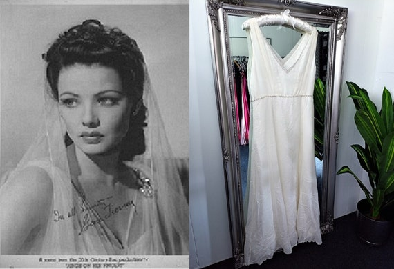 Cream Dress  Wedding Dress  Vintage Wedding Dress
