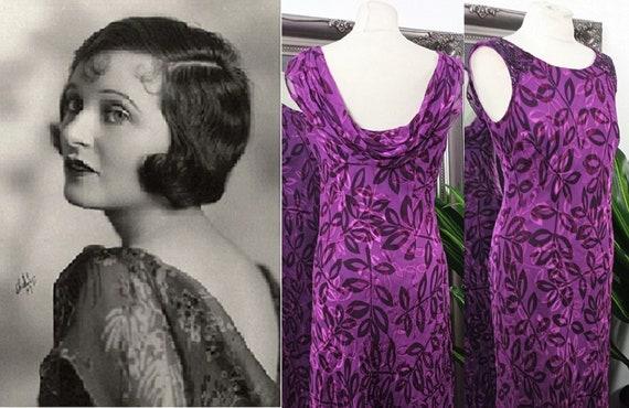 Silk Dress  Cowl Neck Dress  Bias Cut Dress  Devor