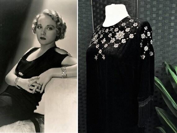 Silk Velvet Dress  Velvet Dress  Embellished Dress