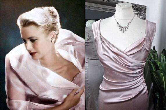 Pink Dress  Satin Dress  Ball Gown  Prom Dress  Pi