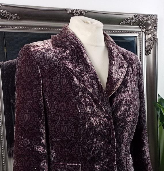 Velvet Jacket  Silk Velvet Jacket  Velvet Blazer