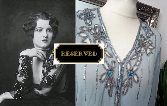 RESERVED for Cheryl  Beaded Cape  Downton Abbey J… - image 1