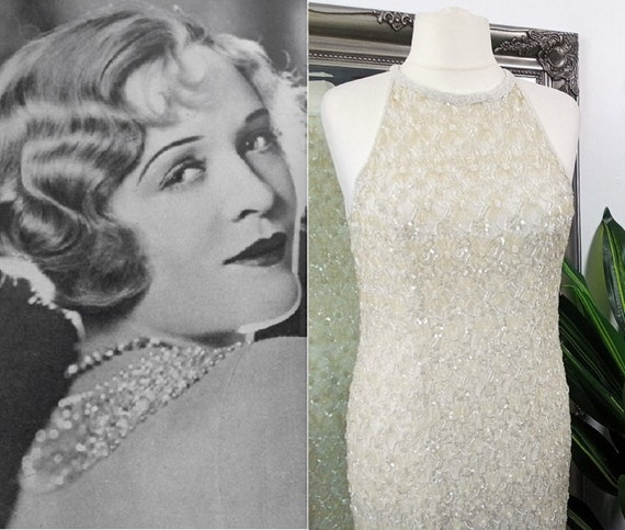 Embellished Dress  Beaded Dress  Old Hollywood Dre