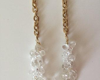 "Gorgeous Necklace, Beautiful Necklace, Ladies Necklace, Translucent Quartz, New Year Necklace,22"" ."