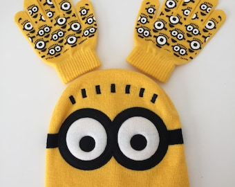 Boy Winter Hat, Warm Boy Hat, Winter Hat, Minions Winter Hat [ Free Shipping]
