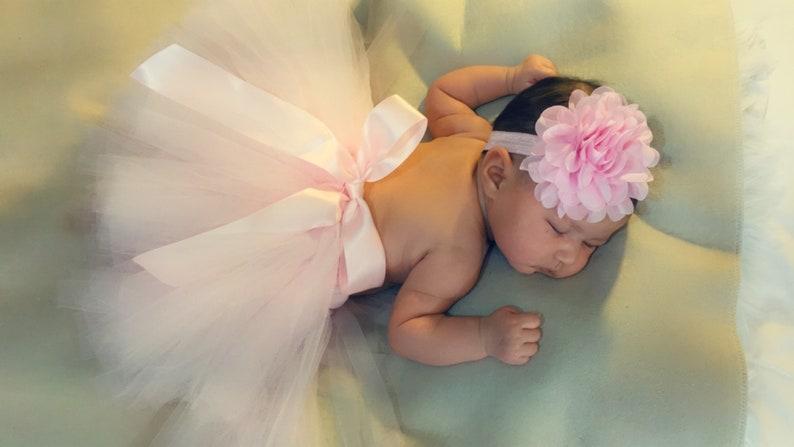 New Born Photography Outfit  Newborn Girl Photography outfit  New born gift  Baby Gift  Light Pink Photo Prop  Girl tutu  Pink tutu