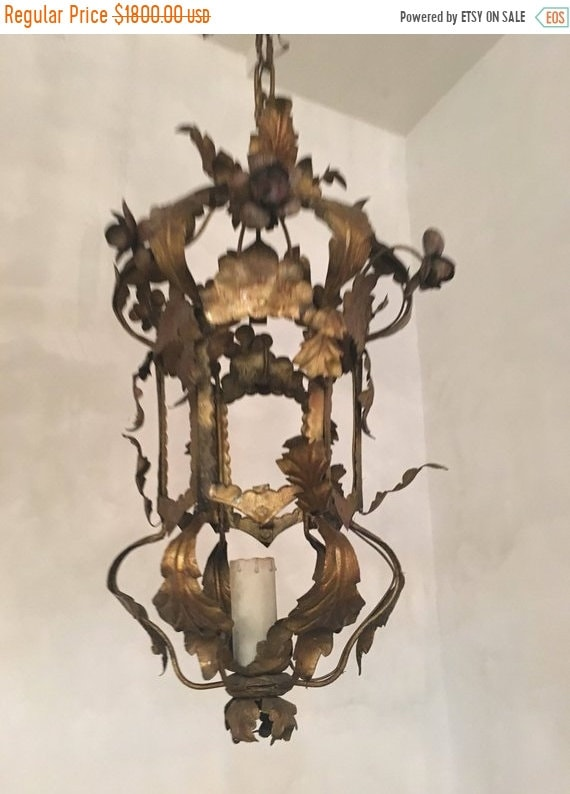 image 0 - Sale Murano Chandelier Tole Chandelier Antique Tole Etsy