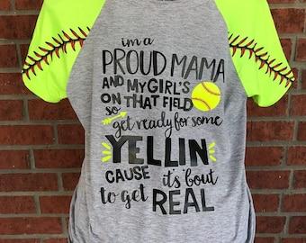 Proud Softball Mom Etsy