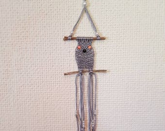 Dream catcher owls macrame and beads