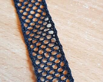 Black silk bobbin lace bookmarks