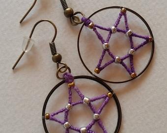 5 pointed star shape earrings