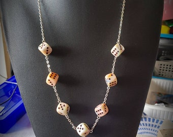 Necklace chain 6 sided dice