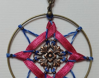 "Collection ""Ribbon"" Fuchsia pendant"