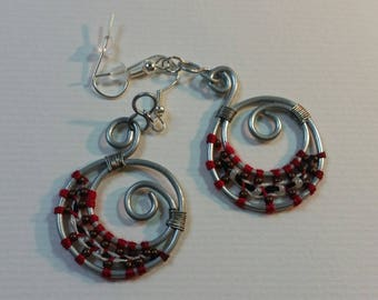 """""""Steel"""" Collection earrings - Crescent Moon"""