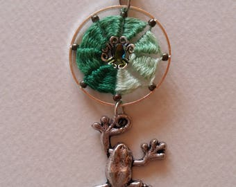 Frog pendant on his Lily pad