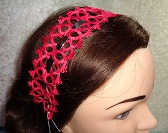 Headband tatting and beads seed beads