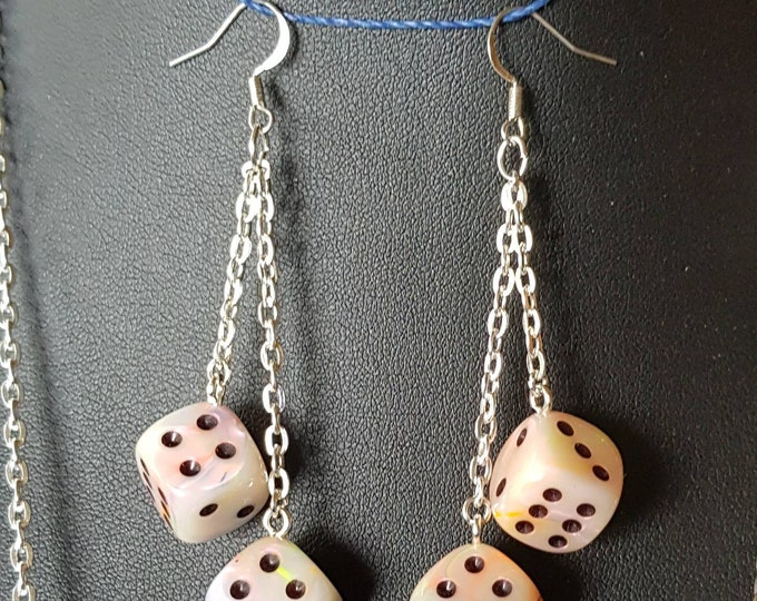 Featured listing image: 6 sided dice earrings