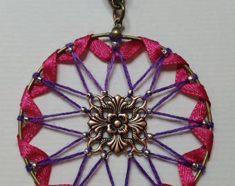 "Collection ""Ribbon"" Dahlia Anemone pendant"