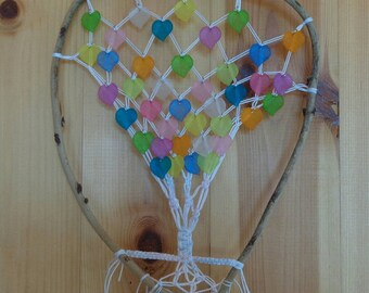 DreamCatcher wooden tree with colorful leaves