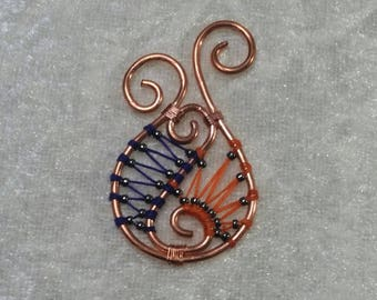 "Pendant ""Copper"" - shell and crustacean Collection"