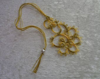 Bookmarks tatting and beads seed beads