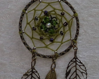 Pendant Bronze Collection - Dreamcatcher Cup beads