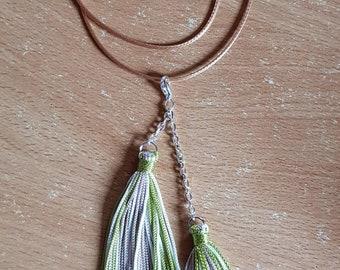 Silk thread tassel pendant