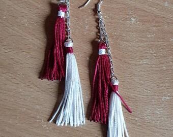 Silk tassel earrings