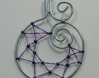 """Collection """"Steel"""" - Spider Web pendant"""