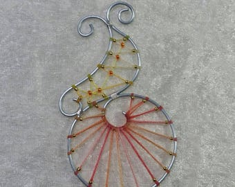 "Pendant ""Steel"" - bird of paradise Collection"