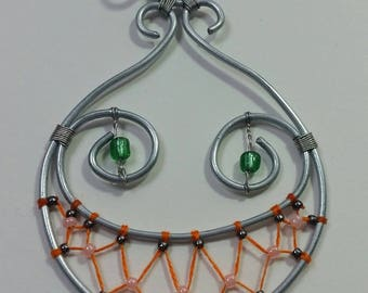 """Collection """"Steel"""" - Alice and Cheshire Cat pendant"""