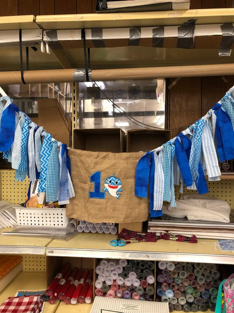 Baby shark high chair banner