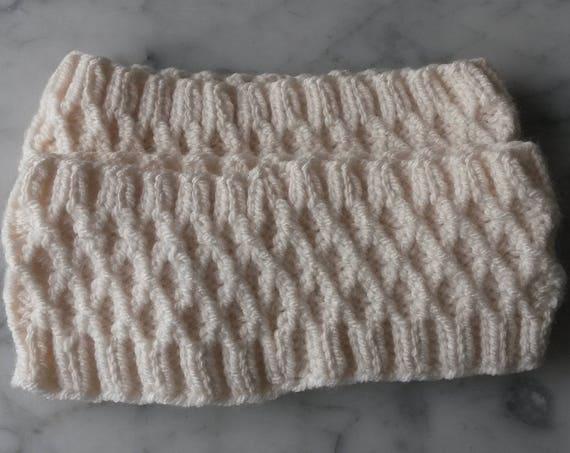 Knit headband: handknit hairband in wool/acrylic yarn. Made in Ireland. Cosy neckwarmer. Hiking hairband. Irish hairband. Cute gift for her.