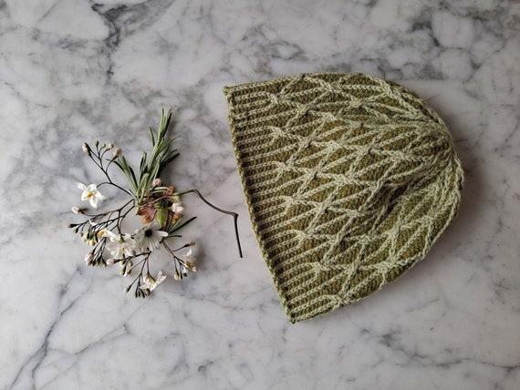 Green knit beanie: cable knit beanie in wool alpaca. Original design. Made in Ireland. Aran beanie hat. Beanie for him. Beanie for her.