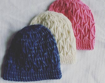 Knitting pattern  instant download PDF. Beanie hat pattern. Cable knit hat  pattern. Aran hat pattern. Knit Beanie pattern. Unisex design. ed13c221bd8
