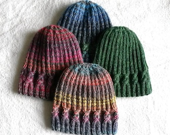 Knitting pattern  instant download PDF. Beanie hat pattern. Cable knit hat  pattern. Aran hat pattern. Simple Cable Beanie. Unisex design. cb64fb0511d