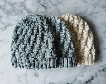 Knit hat; chunky hat; fia beanie