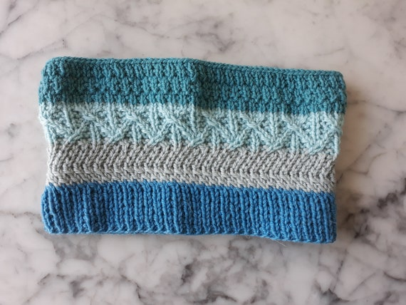 Knit cowl: wool alpaca scarf. Original design. Made in Ireland. Luxury gift. Knit snood. Reversible unisex cowl. Knit neckwarmer. Aran cowl