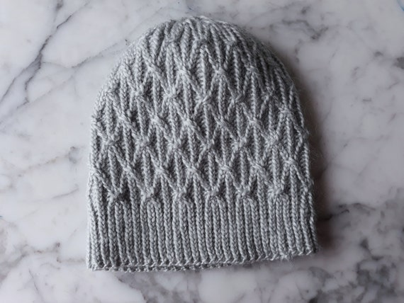 Cable knit beanie: handknit hat in natural fibres. Wool bamboo Aran hat. Beanie for him. Beanie for her. Made in Ireland. Original design.