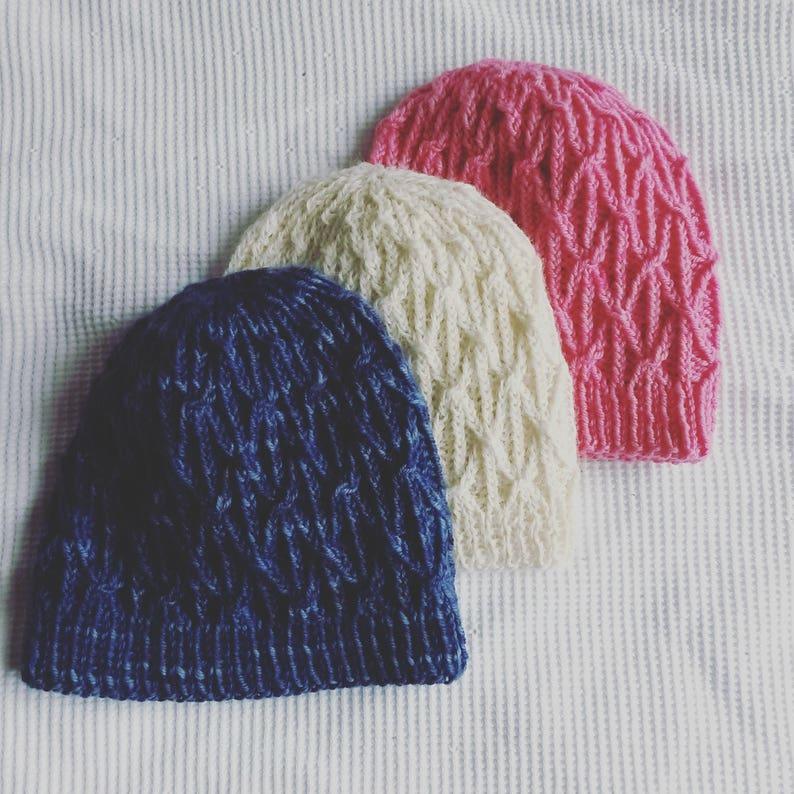 23248c1fae3 Knitting pattern  instant download PDF. Beanie hat pattern.