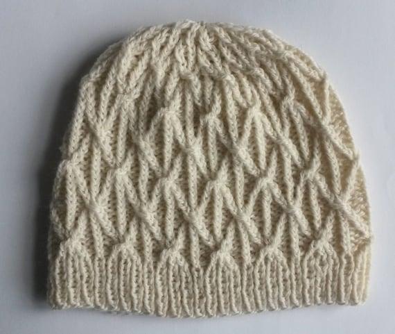 Knitting pattern: instant download PDF. Beanie hat pattern. Cable knit hat pattern. Aran hat pattern. Knit Beanie pattern. Unisex design.
