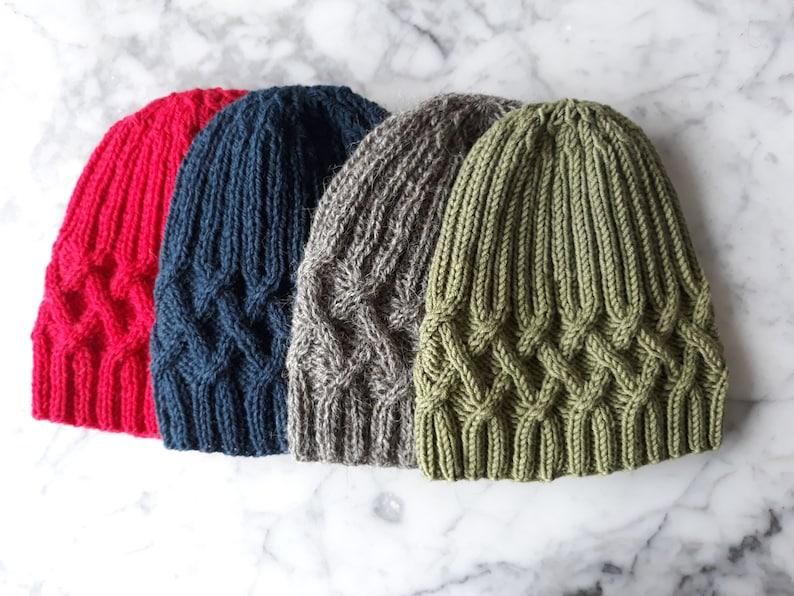 35f8fd539f8 Hat knitting pattern  instant download PDF. Beanie hat