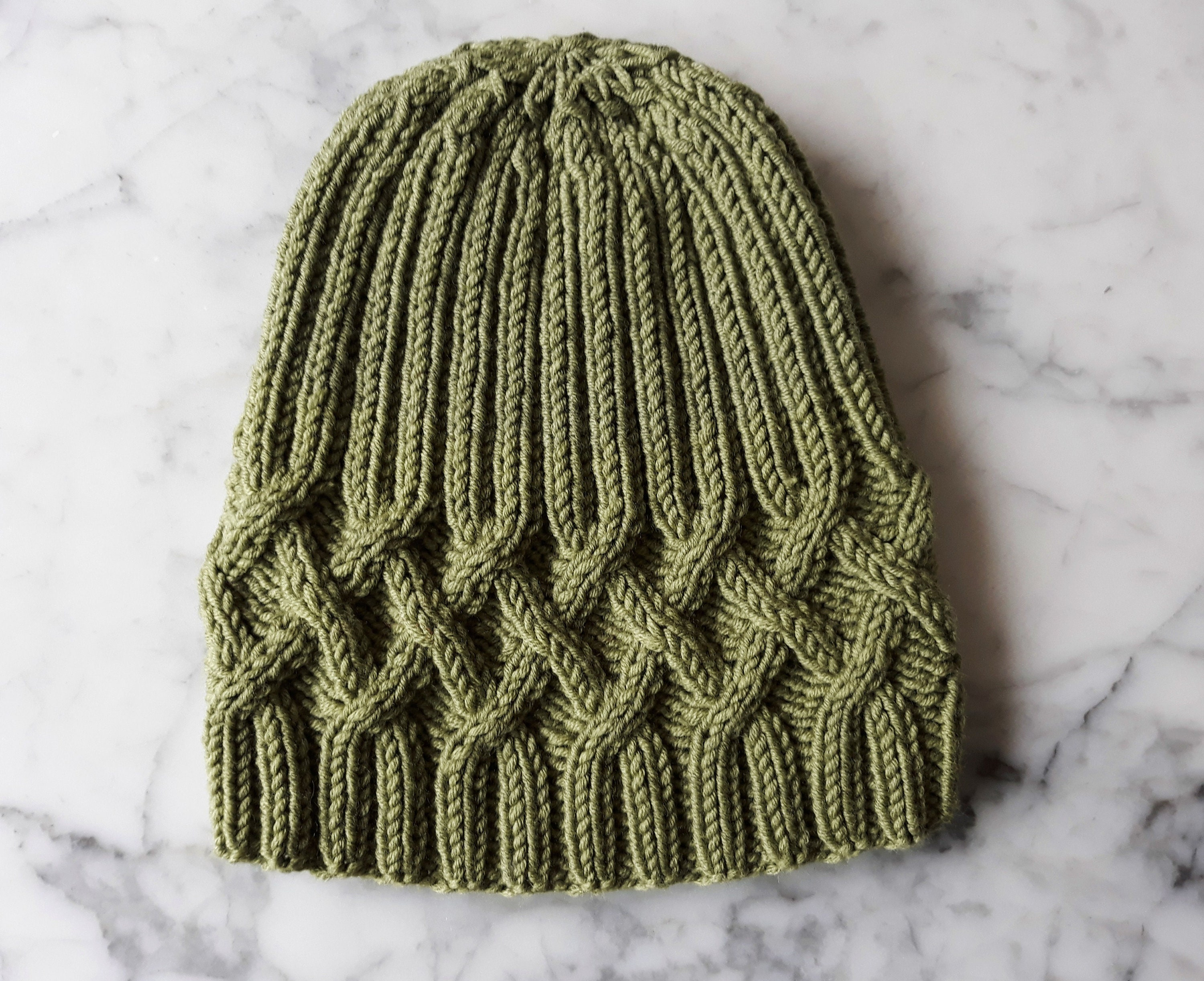 8ed6775a4 Hat knitting pattern: instant download PDF. Beanie hat pattern. Cable ...