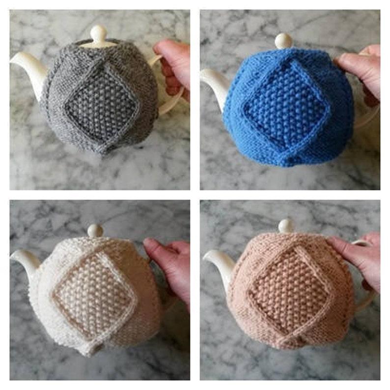 Knitting Pattern: Aran Teacozy. Instant PDF download. Aran image 0