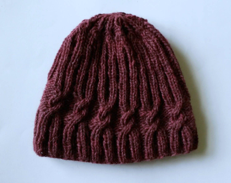 4d3e649bfac45 Knit beanie  original design with spiral cable. Handspun Irish wool ...