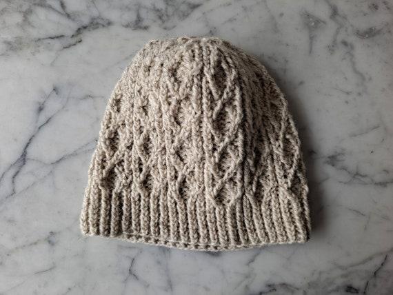 Irish beanie hat: cable knit beanie. Beanie for her. Beanie for him. Made in Ireland. Original design. Irish wool beanie. Aran beanie toque.
