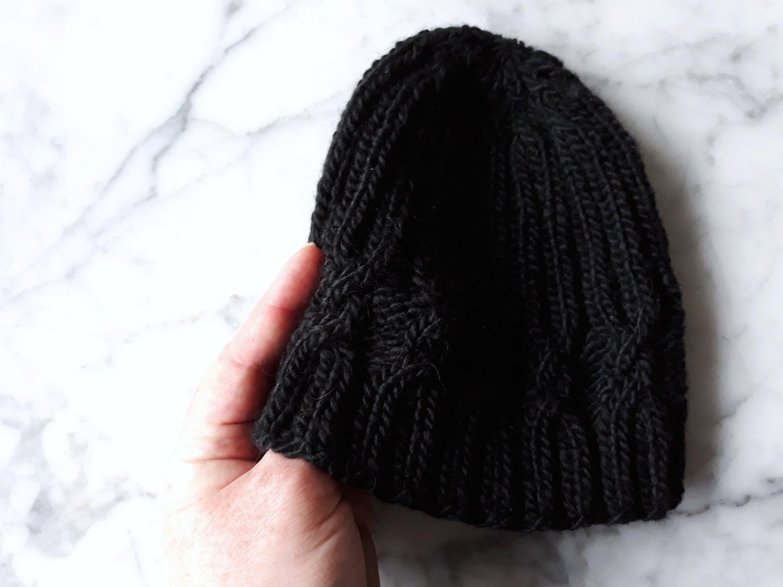 d161687241a6f Cable knit beanie  handknit in luxury alpaca silk wool. Original ...